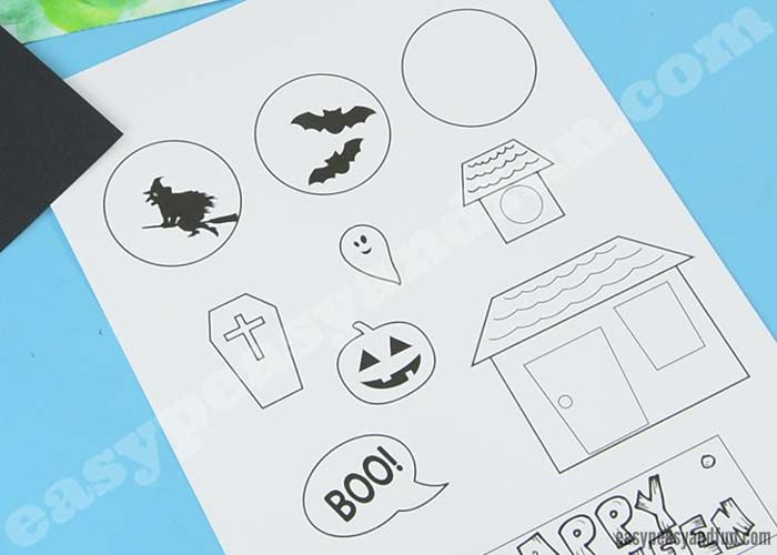 Halloween Pop Up Card Template Easy Peasy And Fun Pop Up Card Templates Halloween Pop Up Cards Easy Halloween Crafts