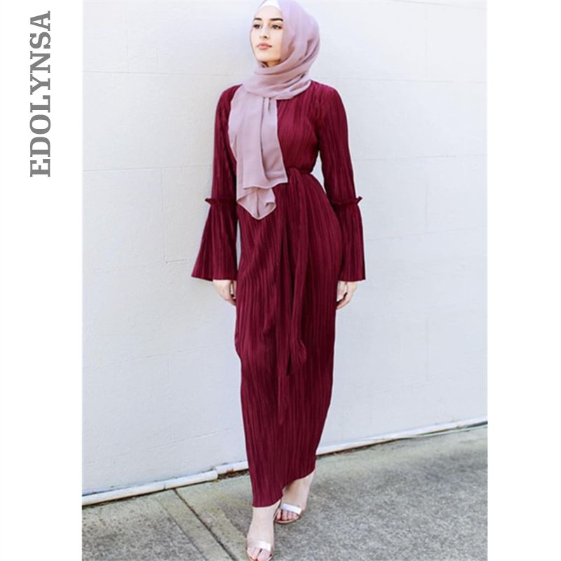 81228ed966a09 2018 Abaya #Long #Sleeve #Dress #Maxi #Muslim #Saudis #Abaya #Robe ...