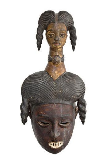 Africa | Ibibio Mask, probably carved by Akpan Chukba. | Collected by Reverend Koeper, a missionary in Eastern Nigeria in the 1930's.