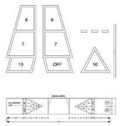 Plastic Shuffleboard Court Stencil Ea With Images