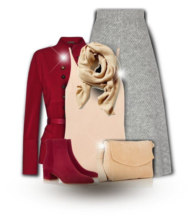 """Dark Red"" by bliznec-anna ❤ liked on Polyvore featuring Donna Karan, Emilia Wickstead, STELLA McCARTNEY, Gianvito Rossi, Victoria Beckham, women's clothing, women's fashion, women, female and woman"