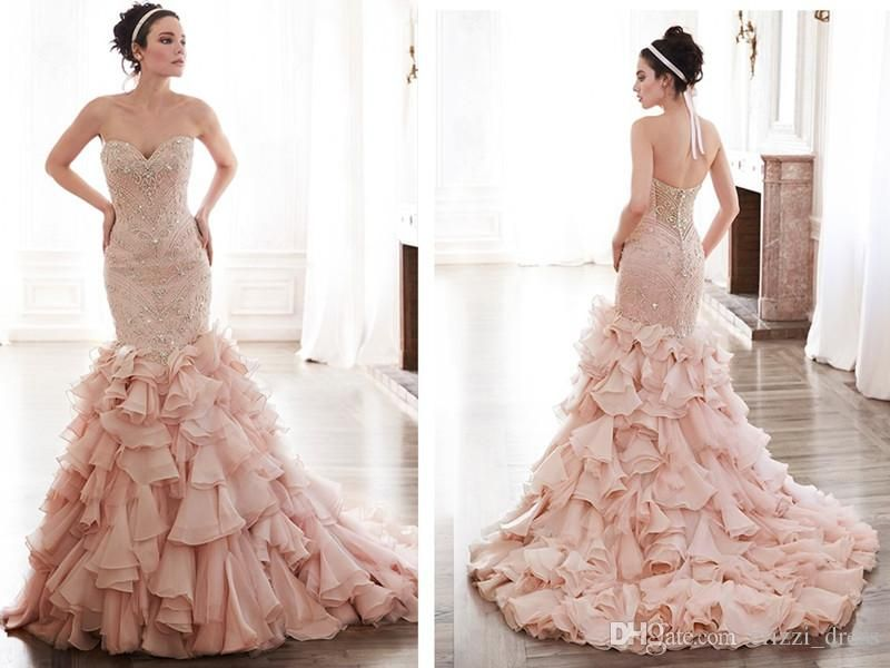Pnina Blush Tiered Bridal Trends Pinterest