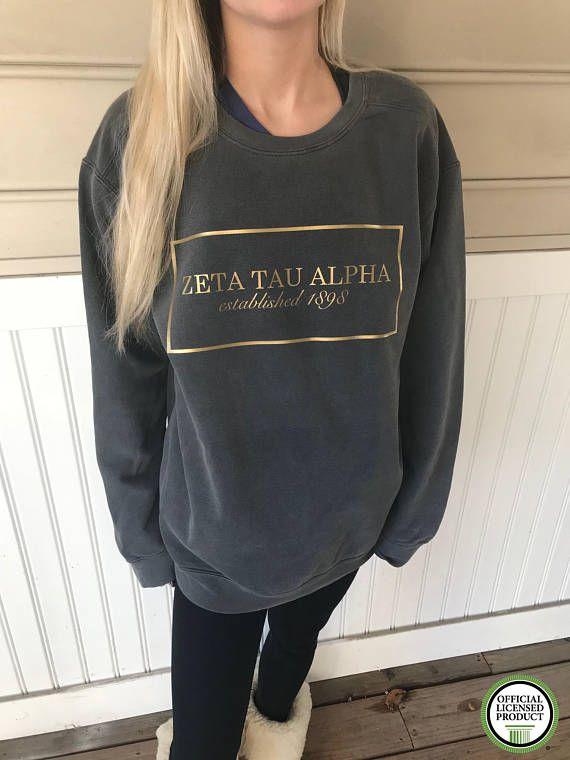 Zeta Tau Alpha Established Comfort Colors Sweatshirt Zeta Tau