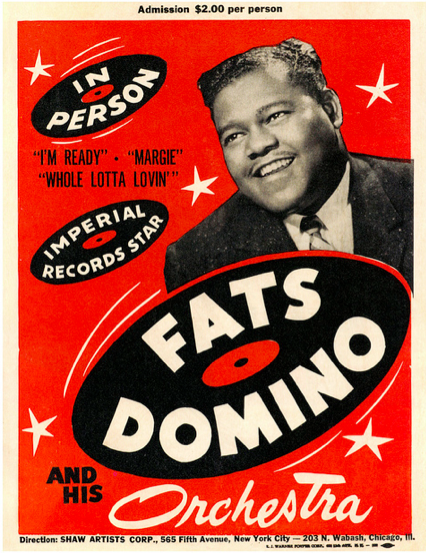Fats Domino poster  Source: Paul Malon