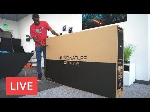 "LG 77"" Wallpaper TV Unboxing [LIVE] YouTube Tvs"