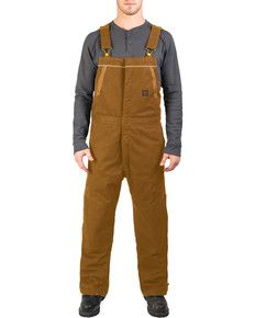 walls mens brown frost blizzard pruf insulated bib on walls insulated coveralls blizzard pruf id=76020