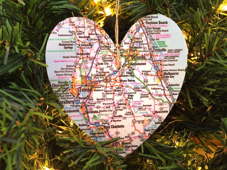 Florida christmas ornament - Florida Map Ornament Florida Ornament Florida Christmas Ornament Florida Map Christmas Ornament