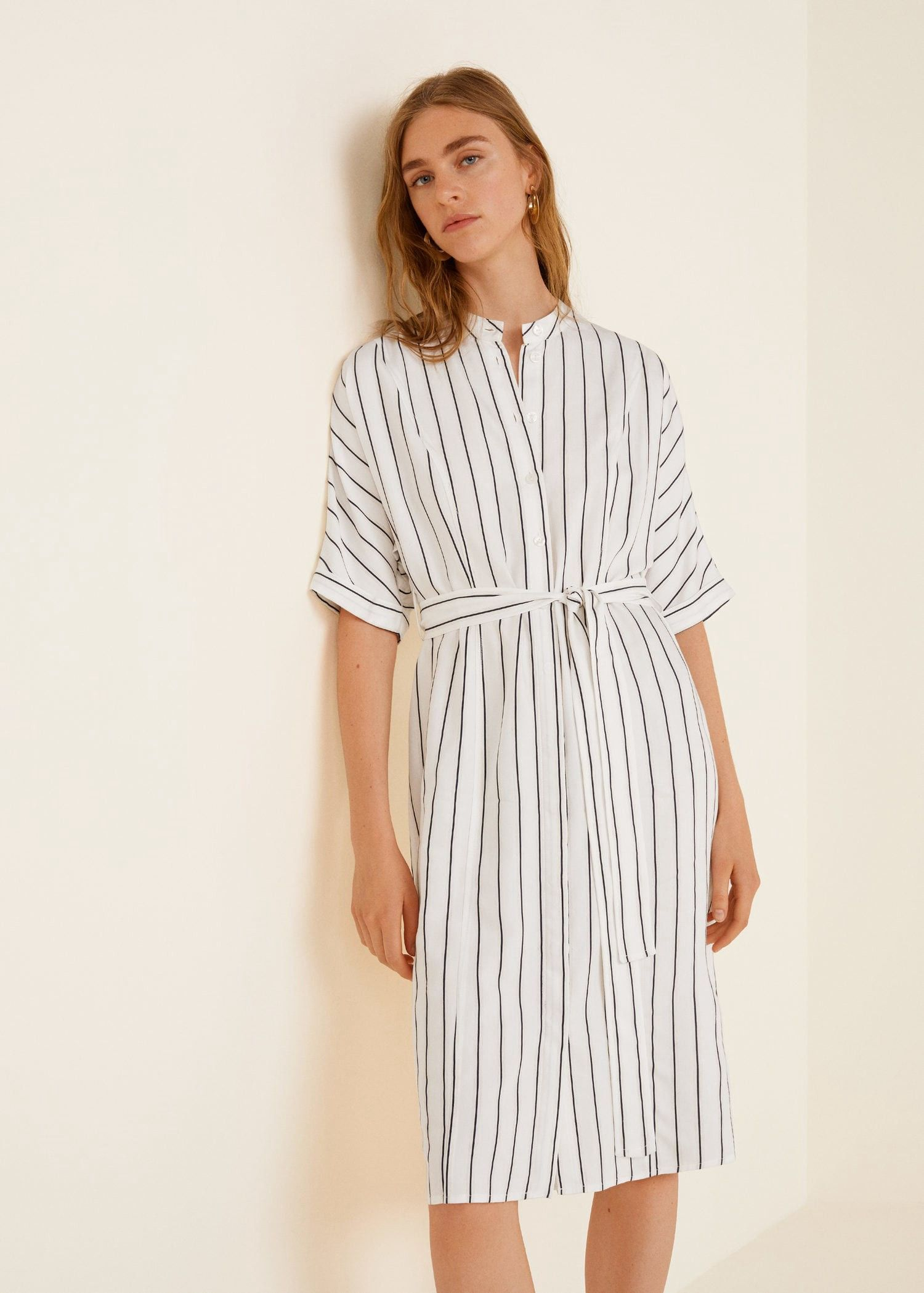 aa1dba4d595e Products Shirt Mango Dress Dress Striped By 7IZwTvv
