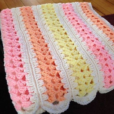 Mile-A-Minute Baby Afghan - Free Pattern | Crochet Afghans ...