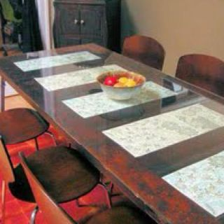 Room Dining Table Made From An Antique Door