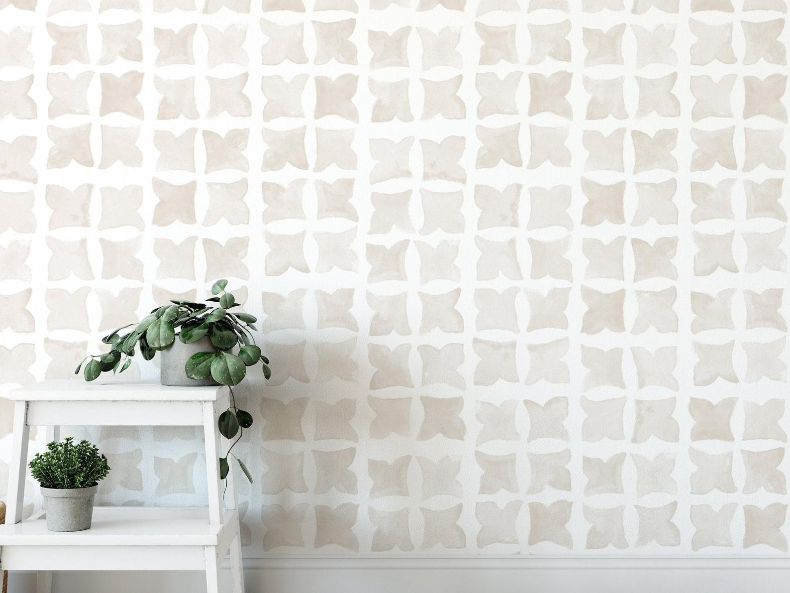 Moroccan Wind Wallpaper Linen Color Tile Wallpaper Peel And Stick Wallpaper Removable Accent Wall Multiple Colors Available In 2020 Peel And Stick Wallpaper Tile Wallpaper Accent Wall