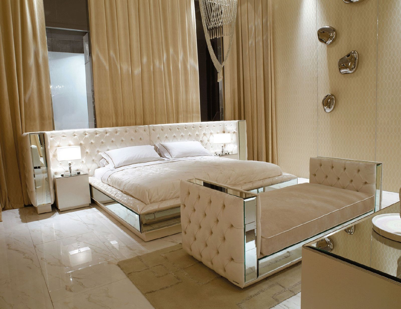 Hollywood luxe italian designer leather bed more luxury - By design furniture and interior design ...