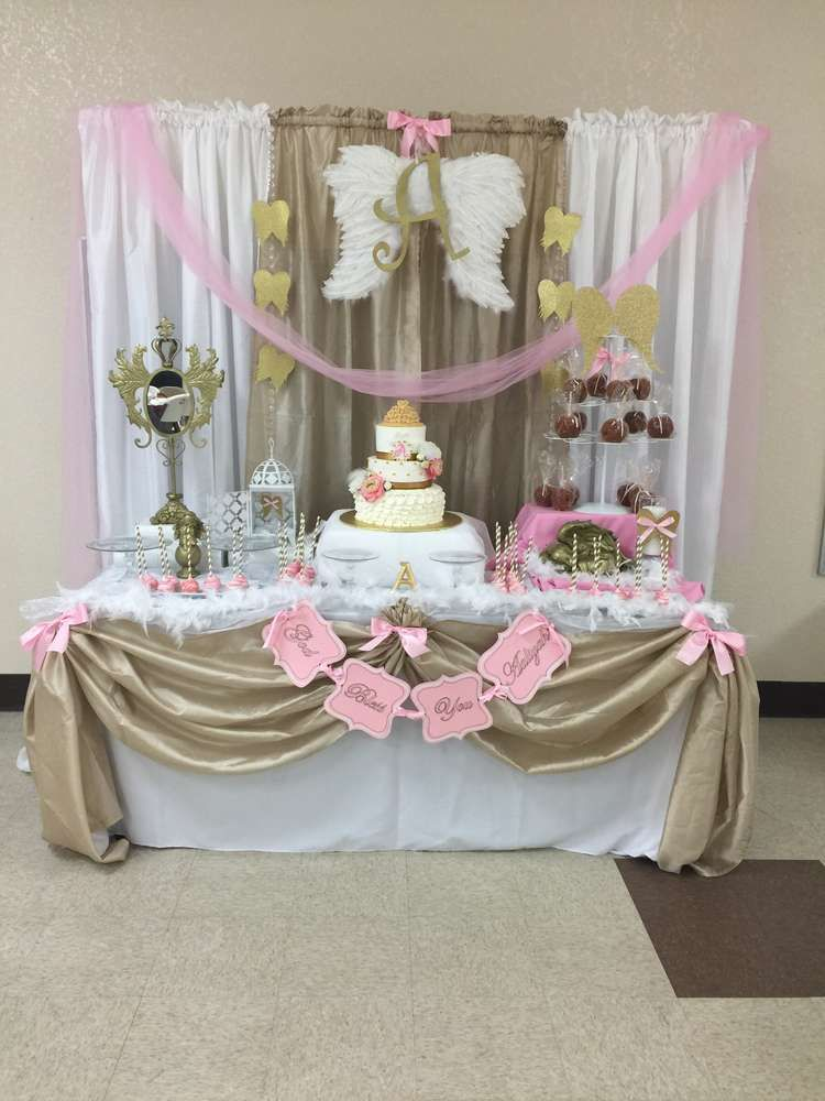 Angel Heaven Baptism Party Ideas Party Decor Baptism Party