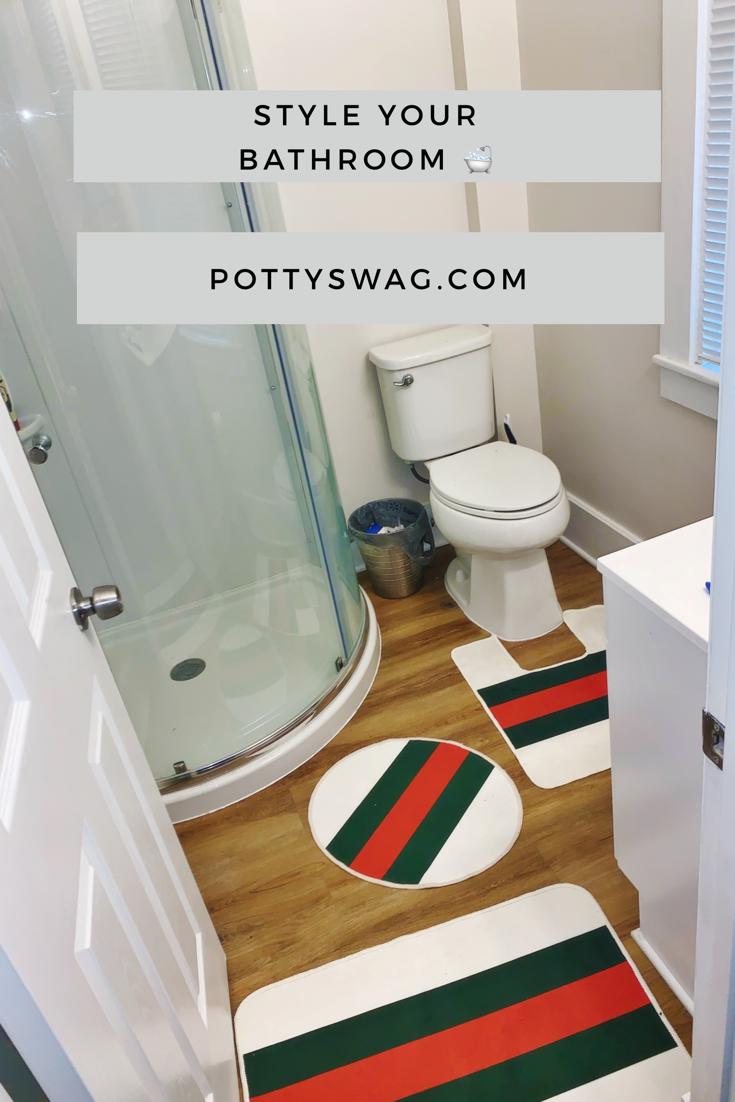 White Gucci 3 Piece Bath Mat Set Bath Mat Sets Bath Mat Small Bath Mat