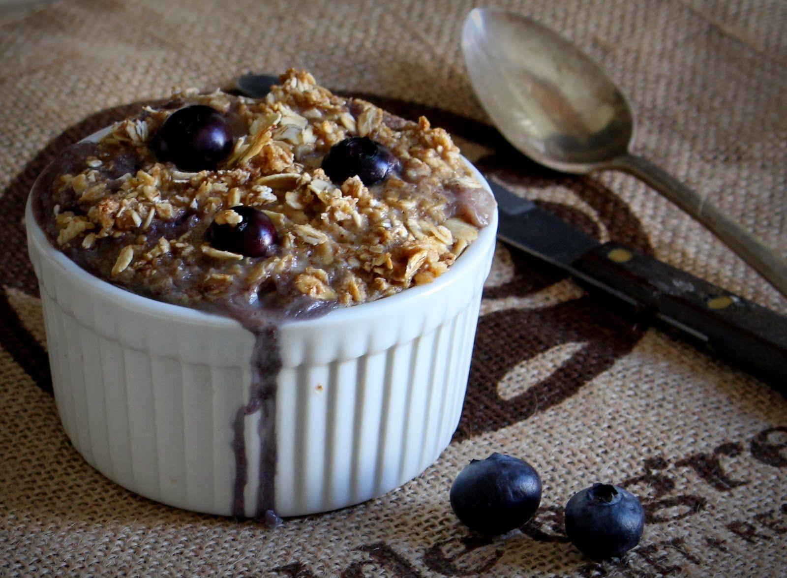 Oatgasm: Blueberry Banana Crumb Muffin Baked Oatmeal