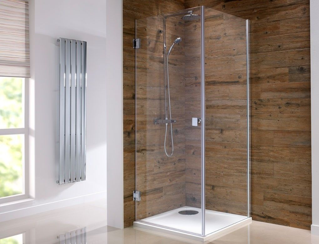 beautiful orca hinged frameless shower enclosures available from serene bathrooms