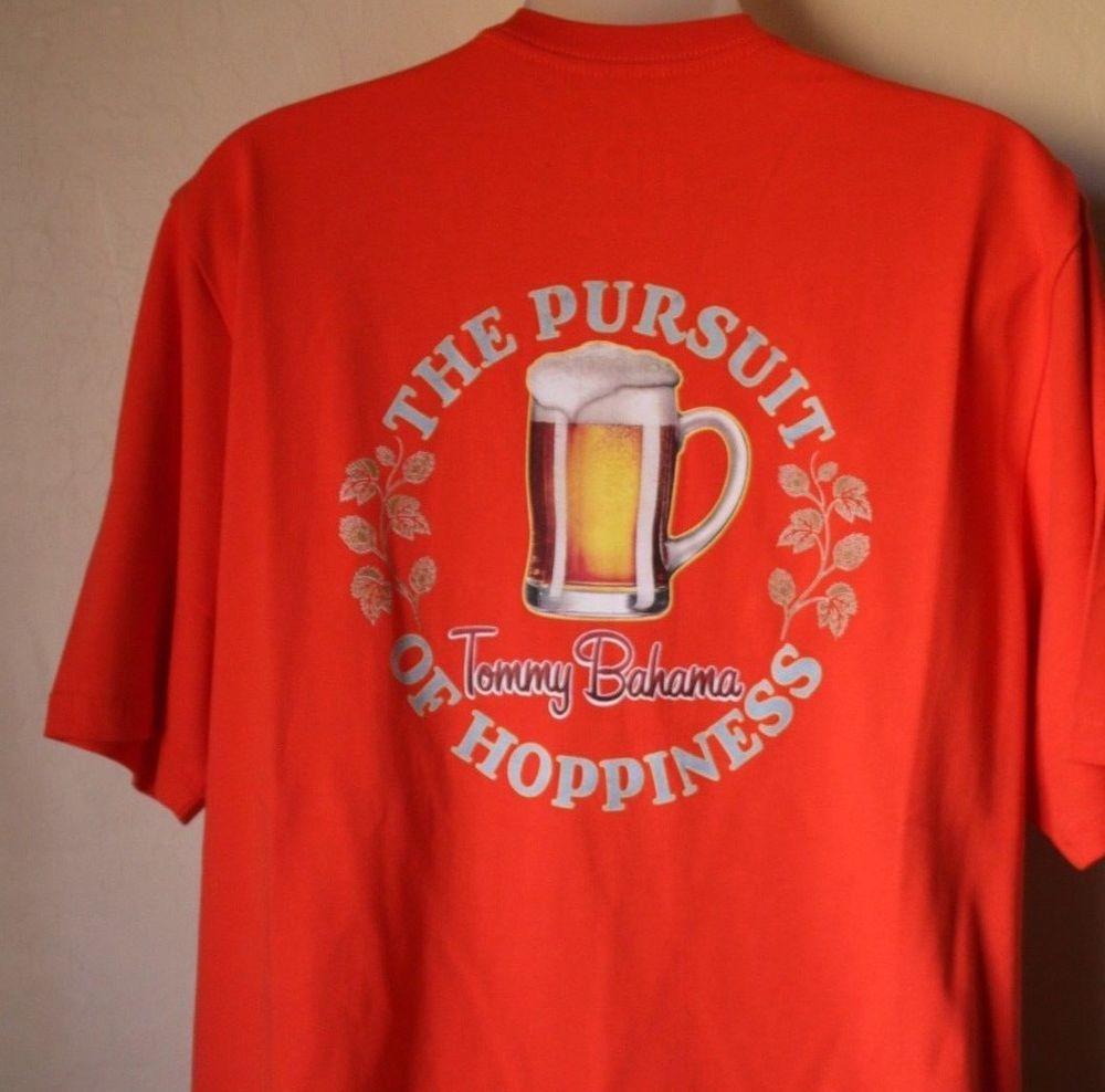 Tommy Bahama Relax The Pursuit of Hoppiness Beer Men s Shirt Orange Size  Medium  TommyBahama   86f59fc92