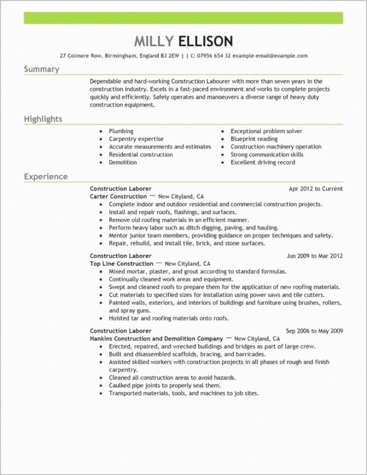 Best of resume and template resume templateonstruction