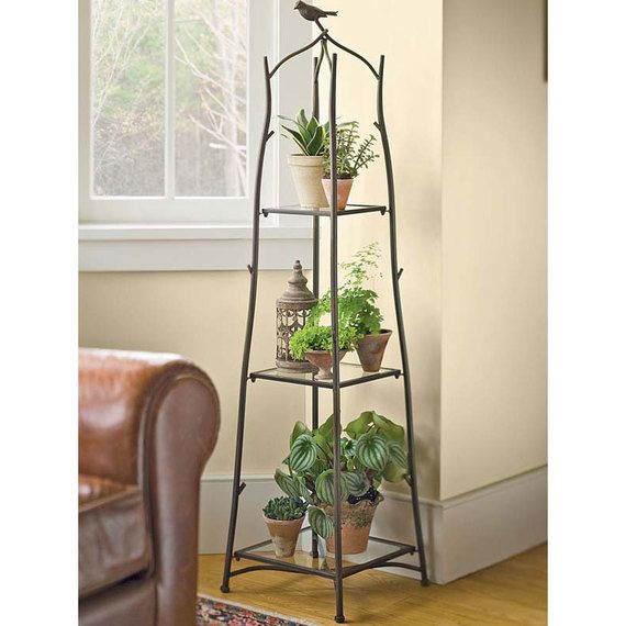 This Plant Stand Is Perfect For That Corner Of Your Living Room That Looks Just A Tad Lackluster Sturdy Metal Plant Stand Indoor Indoor Plant Wall Plant Stand #plant #stand #for #living #room