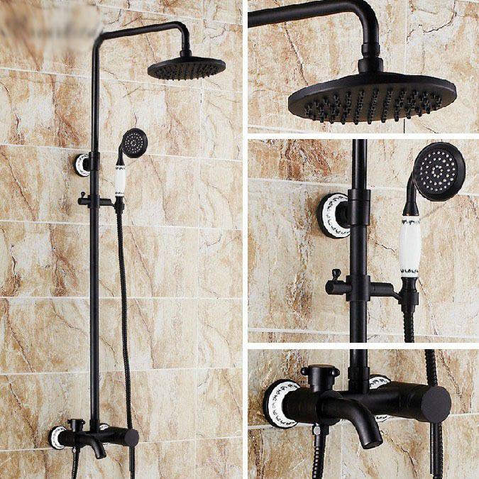 Shower Faucet Head Bathroom Oil Bronze