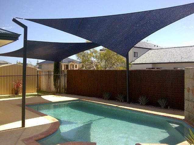 Shade Sails Work Really Well Over Pools Lawns And Children S Play