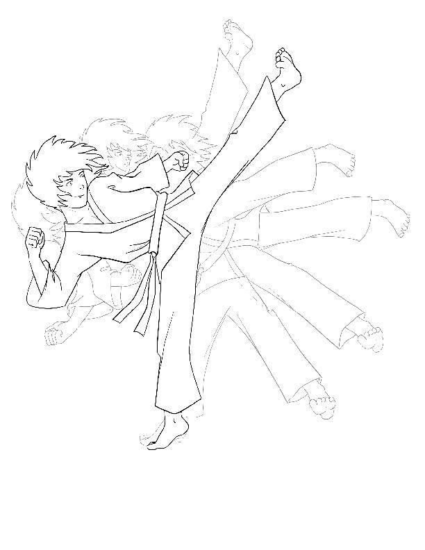 Karate Coloring Pages For Kids Imprimir Sobres