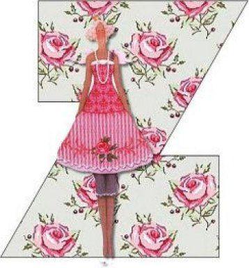 floral letter for decoupage