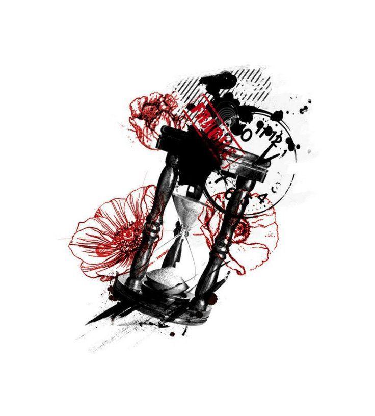 Hourglass tattoo trash  Pin by Isa Virtual on Trash Designs   Pinterest   Trash polka ...