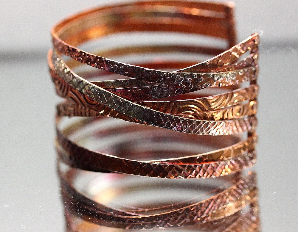 Stacked Copper Cuff by IronMountainArts on Etsy