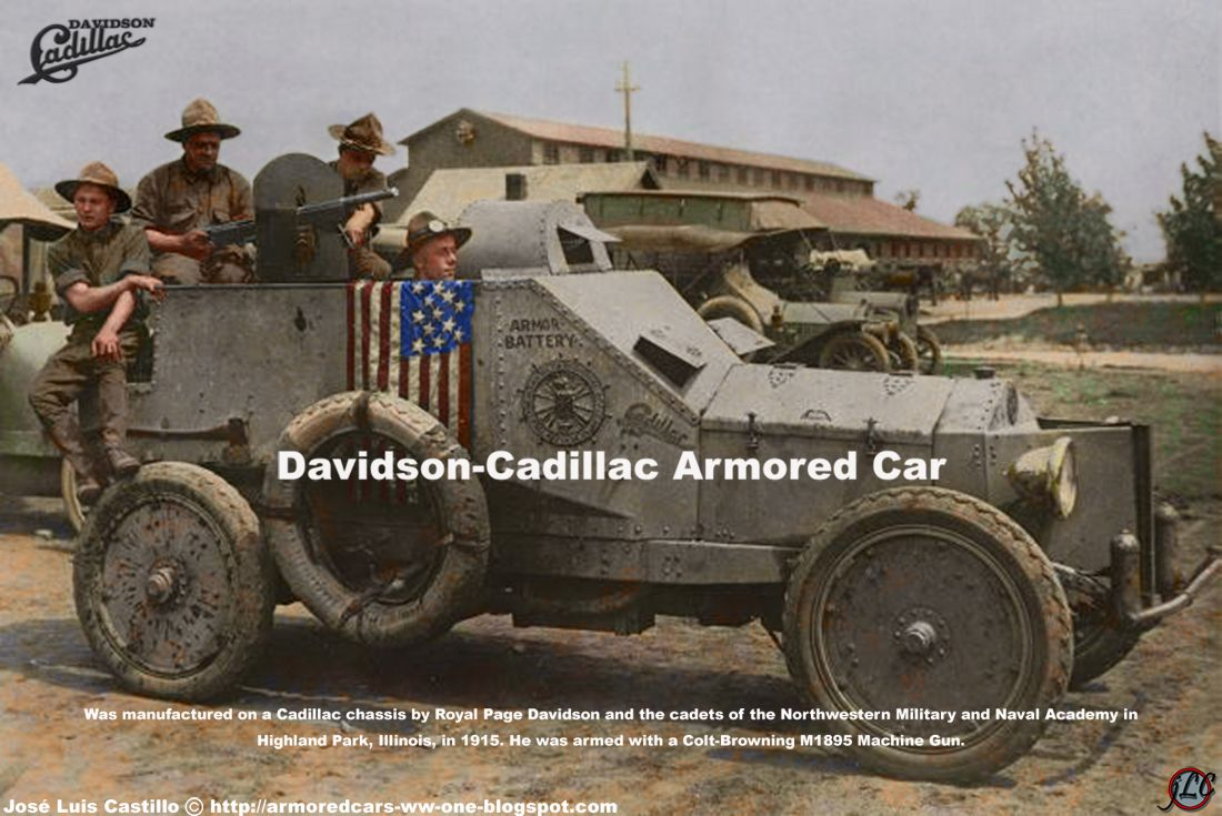 Davidson Cadillac Armored Car Punitive Expedition Pinterest