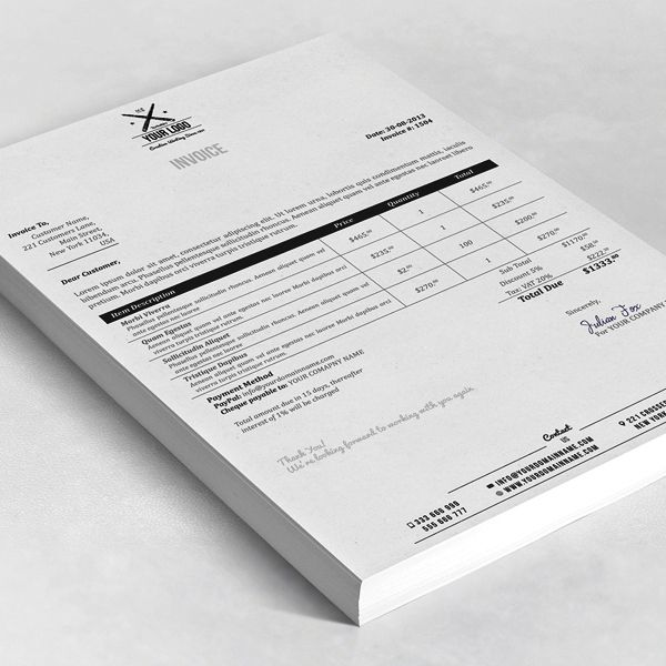 Contoh Desain Invoice Surat Tagihan Bisnis Perusahaan 04 logos - quote spreadsheet template