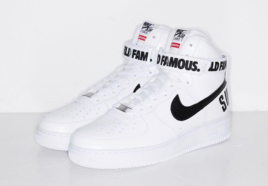 Supreme X Nike Air Force 1 High Ayakkabilar Mezunlar Gecesi Elbiseleri Spor