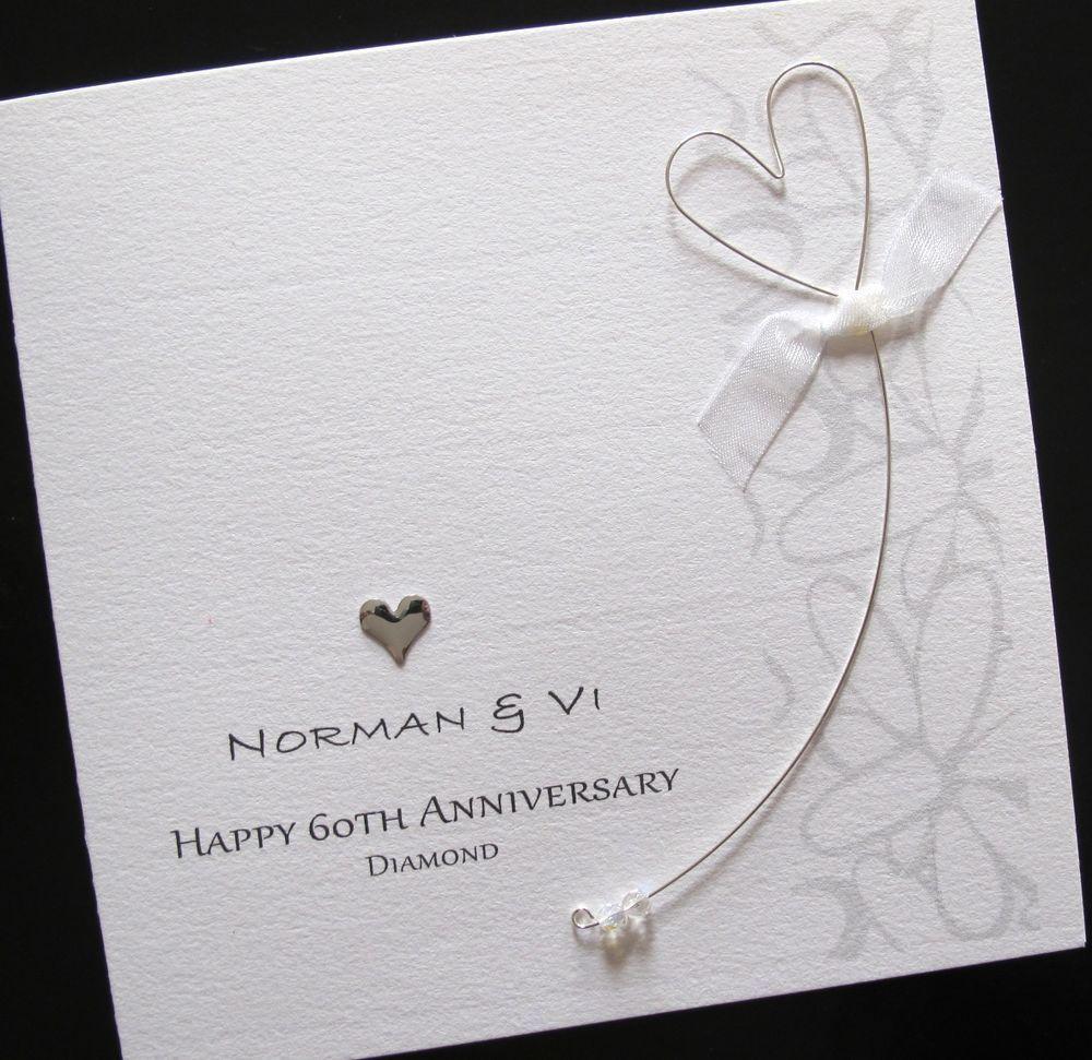 How to scrapbook wedding cards - Handmade 60th Diamond Wedding Anniversary Card Mum Dad In Crafts Cardmaking Scrapbooking Hand