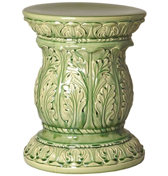 Surprising Acanthus Garden Stool In Moss Green Green Home Accessories Pabps2019 Chair Design Images Pabps2019Com