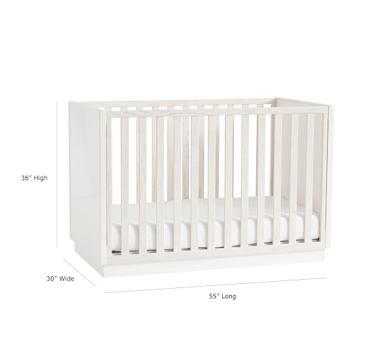 West Elm X Pbk Modernist Convertible Crib In 2020 West Elm Pottery Barn Crib Modern Baby Furniture