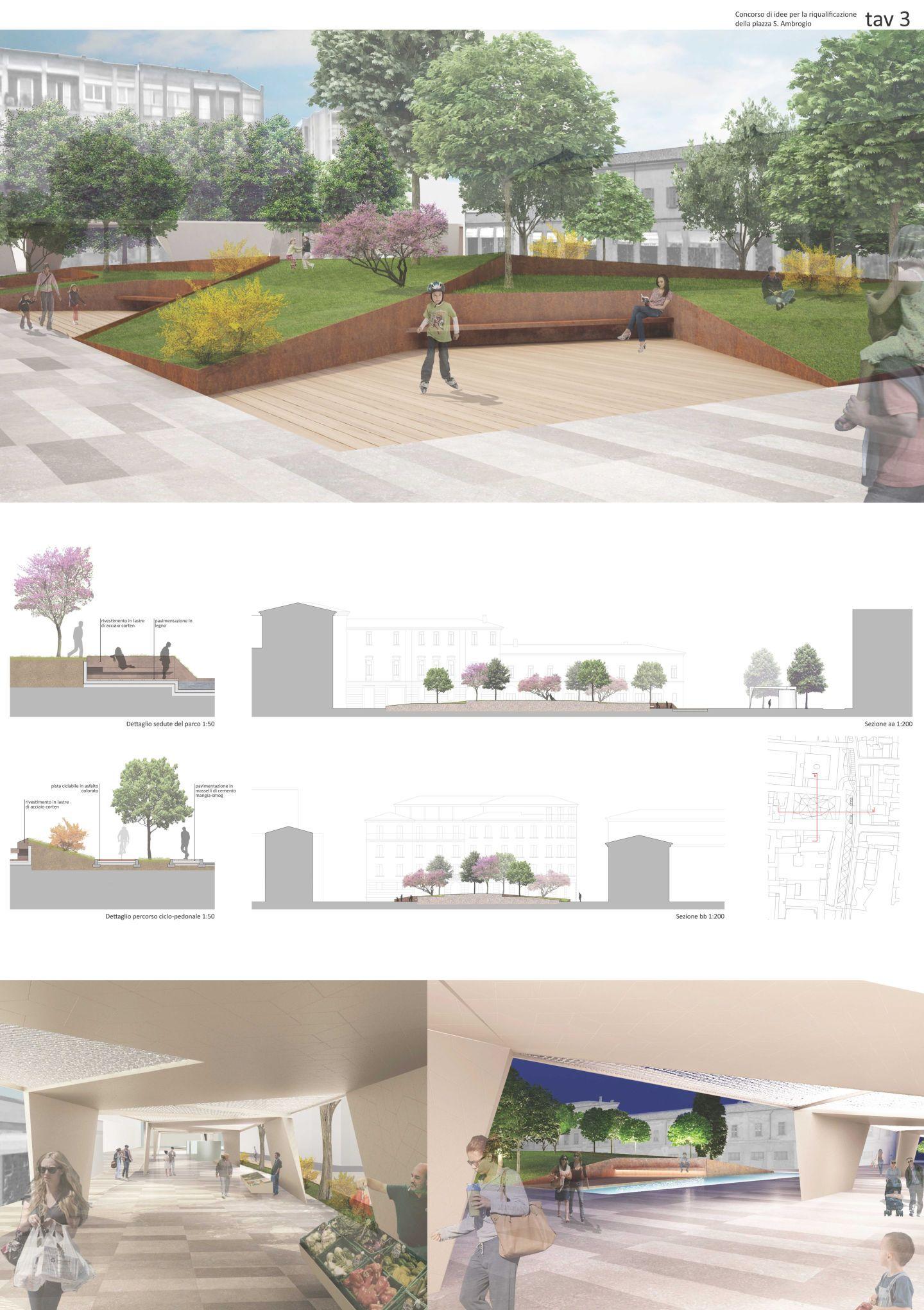 CHRISTIAN SANSON · Riqualificazione urbanistica delle aree centrali di Codroipo · Divisare 008 Architecture boards Pinterest