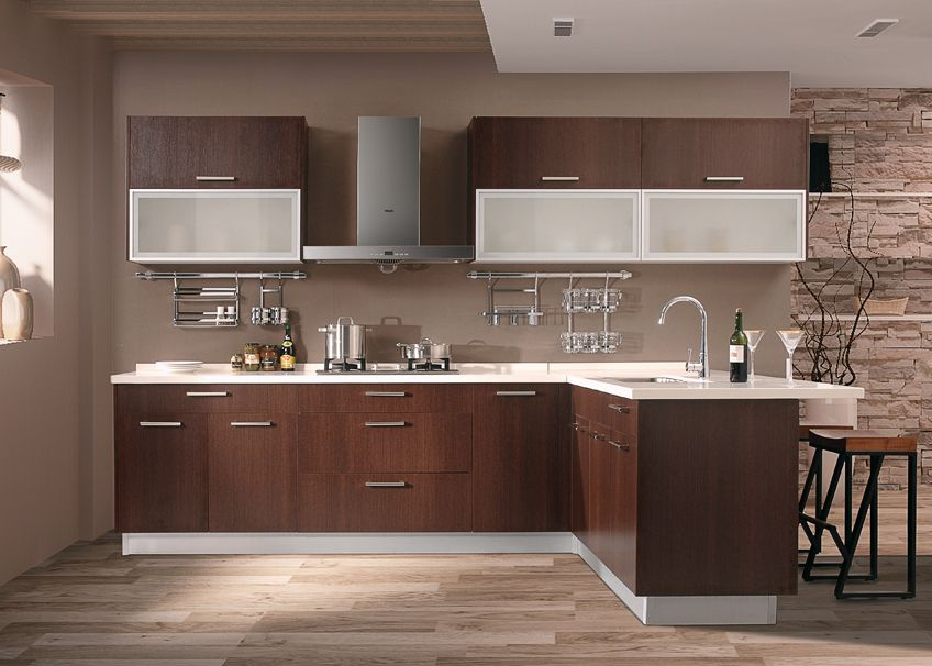 Wenge Wood Is A Timeless Sophisticated Addition To Your Kitchen Eurostyle Modern Gray Cabinets Kitchens Homes Homedecor Diy Remodel Renovation