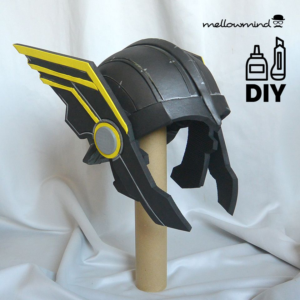 Fan-made EVA foam helmet from the upcoming Thor Ragnarok movie. Template available via my Etsyshop. & Fan-made EVA foam helmet from the upcoming Thor Ragnarok movie ...