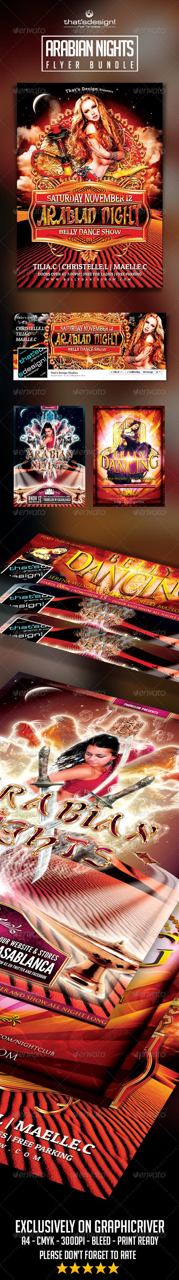 Arabian Nights Flyer Bundle Official website : http://thats-design.com/