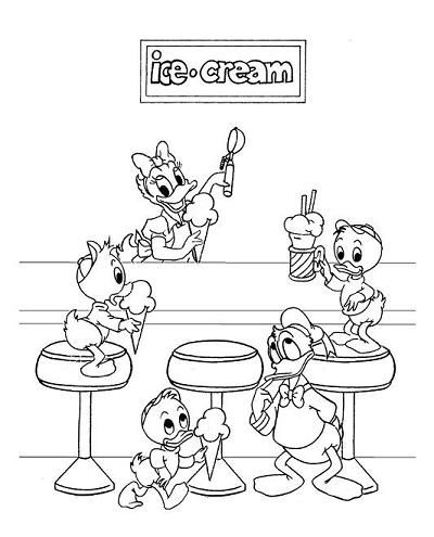 Daisy Selling Ice Cream Coloring Page Disney Coloring Pages Coloring Pages Coloring Books
