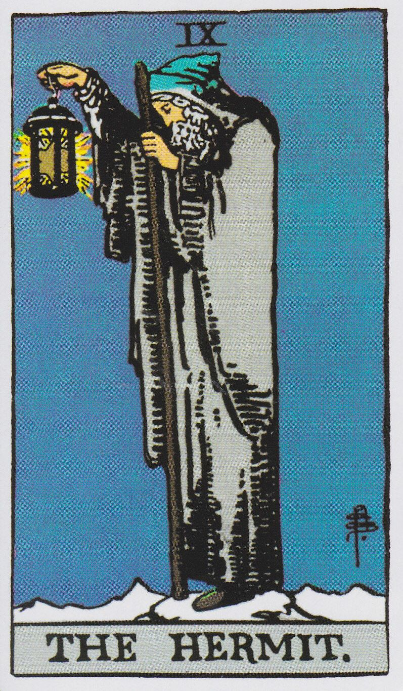 The Hermit Tarot Card Meaning In Readings Isolation: The Hermit - Albano-Waite Tarot