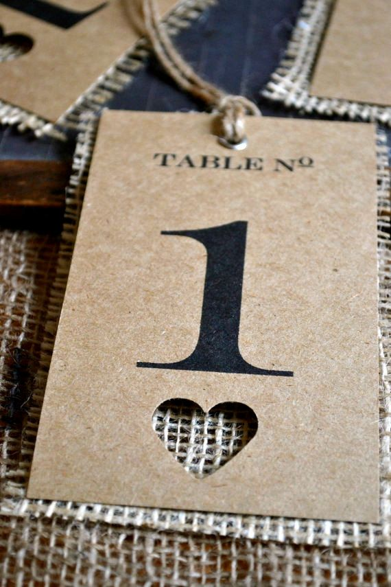 Wedding Table Number Tags By Lapommeetlapipe On Etsy