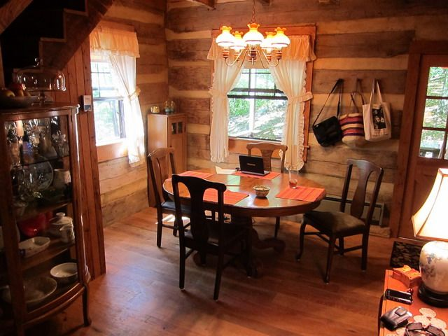 Breakfast Nook Log Cabin Interior Cabin Interior Design Log