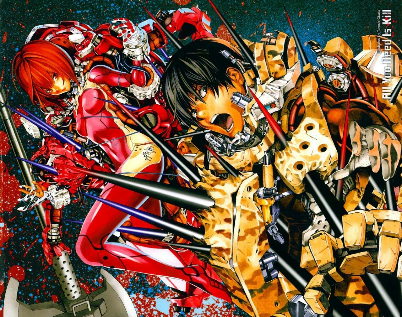Keiji Kiriya Rita Vrataski All You Need Is Kill Anime