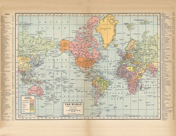 Printable world map from 1904 a high resolution 600 dpi digital old world map from 1904 a poster sized super high resolution 600 dpi printable digital download oldmap mapoftheworld printables gumiabroncs Gallery