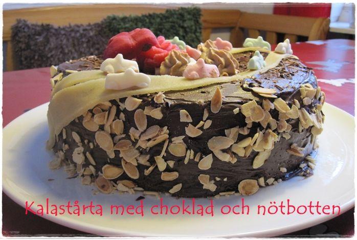 tårta med chokladkräm