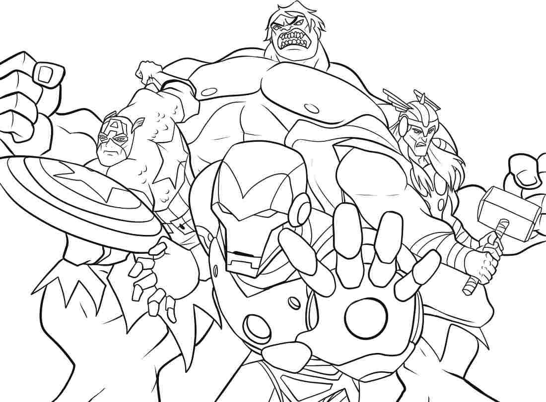 Avenger Coloring Pages For Kids Coloring Pages Pinterest