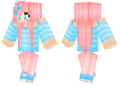 Candypop Girl With Pink Hair Minecraft Skins Skin