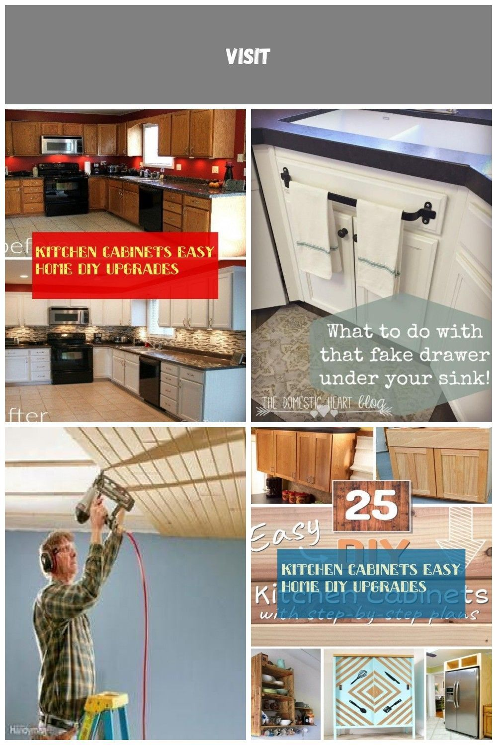 kitchen cabinets easy home diy upgrades  kitchen cabinets