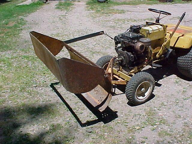 Garden Tractor Bucket : My e bucket economy mytractorforum the